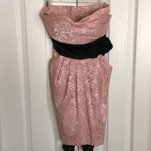 SPEECHLESS Vintage strapless pink and black dress